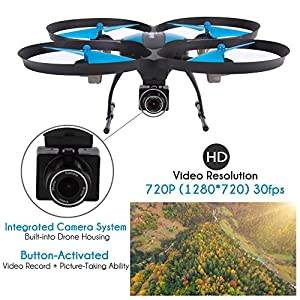 SereneLife WiFi FPV Drone with HD Camera and live Video. Headless Mode Quadcopter, Altitude Hold, 1-Key Takeoff/Landing, Bonus Battery, Low Voltage Alarm, Custom Route Mode, 15 Minutes Flight Time from Sound Around