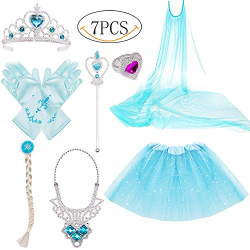 Princess Dress Up Costume Accessories Elsa Set For
