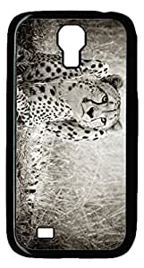 Brian114 Samsung Galaxy S4 Case, S4 Case - Cool Black Back Hard Case for Samsung Galaxy S4 I9500 Leopard Thinking 2 Design Hard Snap-On Cover for Samsung Galaxy S4 I9500
