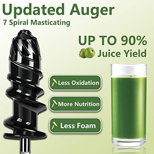 Slow Juicer,AMZCHEF Slow Masticating Juicer Extractor Professional Machine with Quiet Motor/Reverse Function,Cold Press Juicer with Brush,for High Nutrient Fruit & Vegetable Juice by AMZCHEF (Image #2)