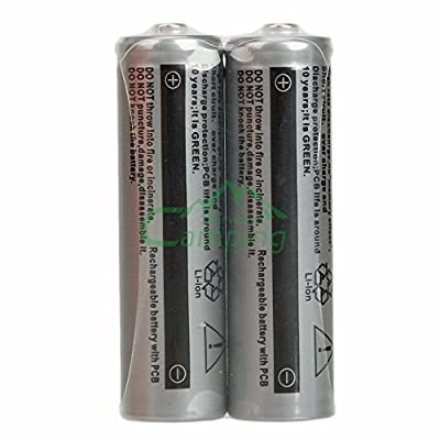 2Pcs 3.7V 1200mAh 14500 High Energy Lithium AA Rechargeable Batteries for Torch