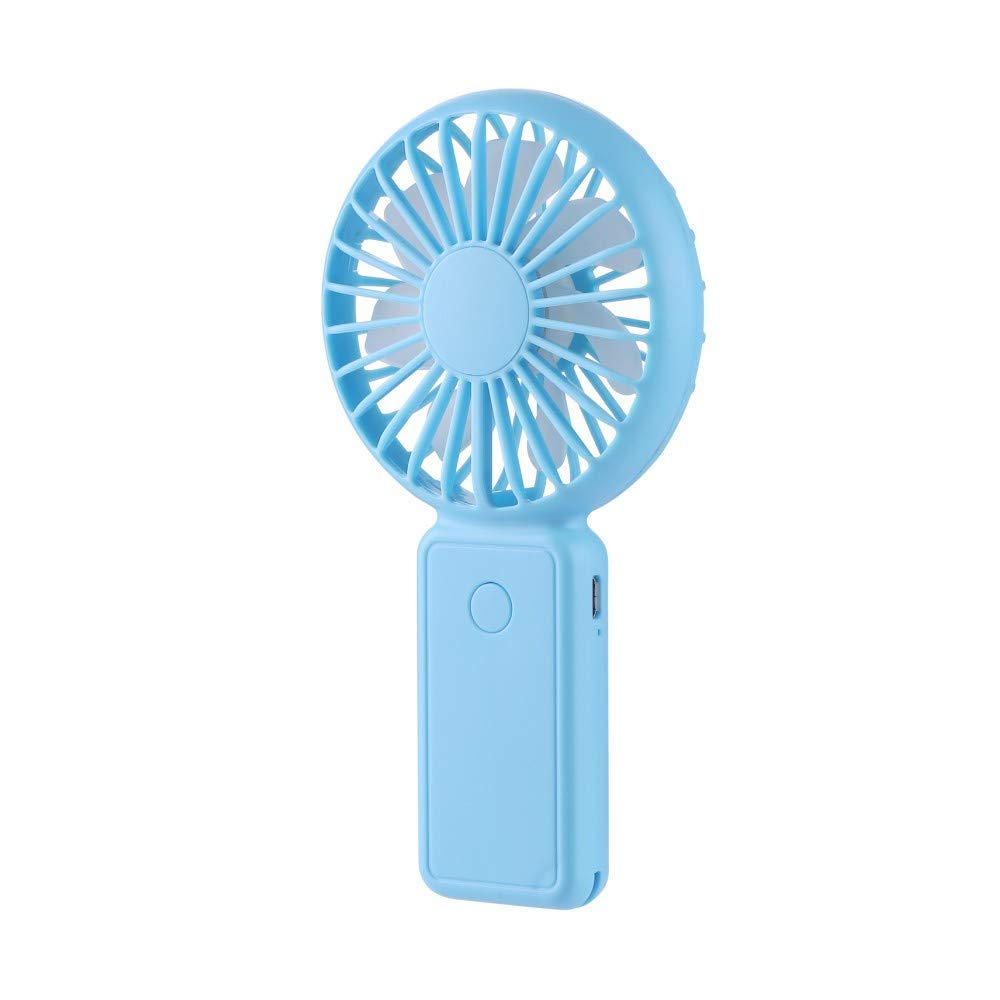 TechCode USB Handheld Fan, Mini Hand Hold Fan Cooling Lightweight Hand Fan Silent Table Fan Portable Handheld Mini Air Conditioner Cooler Fan Adjustable Speeds for Indoor Outdoor Travel Camping,Blue