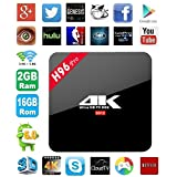 Aikenuo H96 Pro 2GB+16GB Smart TV Box Octa Core 64bit Amlogic S912 Android 6.0 Media Player 4K Pre-installed Full Loaded Ultra HD Set Top Box With Bluetooth 4.1 HDMI WIFI LAN Google Youtube