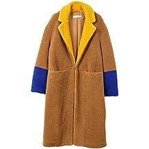 MANGO Women's Contrast Faux Fur Coat