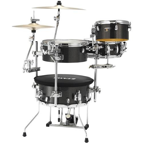 (Tama Cocktail-JAM 4-Piece Shell Pack with Hardware, Midnight Gold Sparkle)