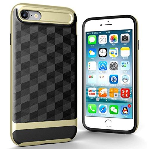 Protege tu iPhone, Para iPhone 7 3D diamante PC + TPU Combinación caso protector Para el teléfono celular de Iphone. ( Color : Negro ) Oro