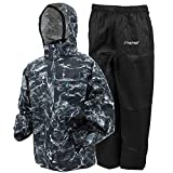 Frogg Toggs All Sport Rain Suit, Mossy Oak Elements Blacktip/Black Pants, Size Small