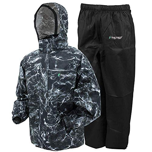 Frogg Toggs All Sport Rain Suit, Mossy Oak Elements Blacktip/Black Pants, Size Medium