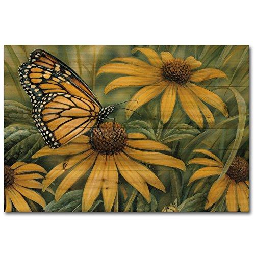 WGI-GALLERY 2416 Monarch Butterfly Wooden Wall Art