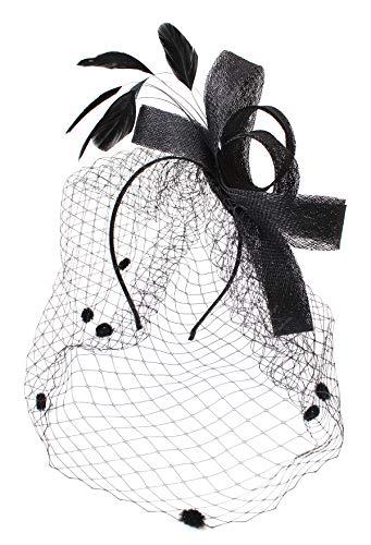 Felizhouse Kentucky Derby Fascinator Hat Headband Clip for Women Girls Headwear Flower Mesh Tea Party Wedding Headpiece