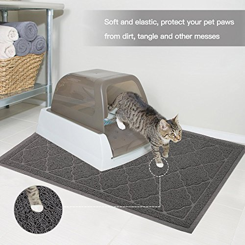ALTMAN Cat Litter Mat Non-Slip Jumbo Size(38'' x 23'') Kitty Mat, Traps Litter from Box and Paws, Soft on Sensitive Paws and Easy to Clean by ALTMAN (Image #1)