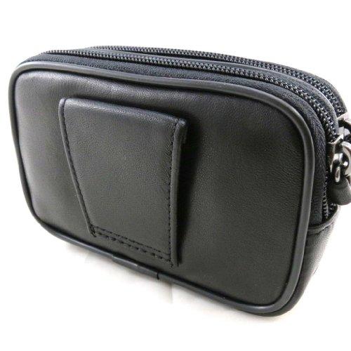 Francinel [J2569] - Pochette ceinture cuir 'Lafayette' noir
