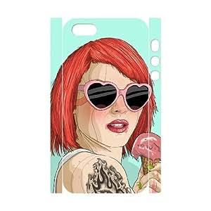 3D IPhone 5,5S Cases Ice Cream Girl Cheap for Boys, Case for Iphone 5s for Men Cheap for Boys [White]BY autodiy