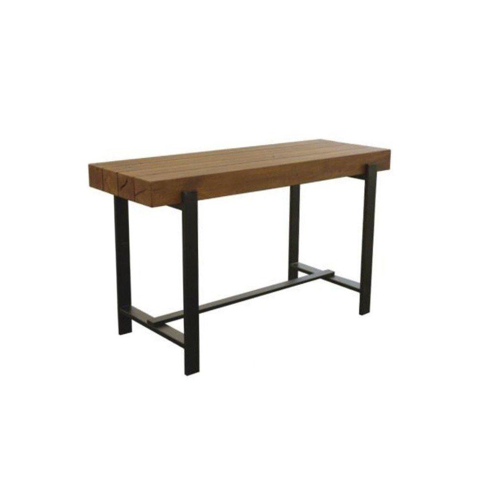 Countertisch aus 4 Balken Akazie braun gebeizt 165x55x90cm - Modell Irsi