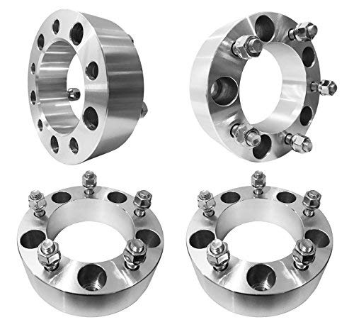 FAS Motorsports 5x5.5 Wheel Spacers (1.5 inch) 38.1mm (108mm bore, 12x1.25 Studs & Nuts) 5 Lug wheelspacer for Geo Tracker, Suzuki Samurai, Sidekick, Vitara, X-90, XL-7 (Silver) (4 Pieces)
