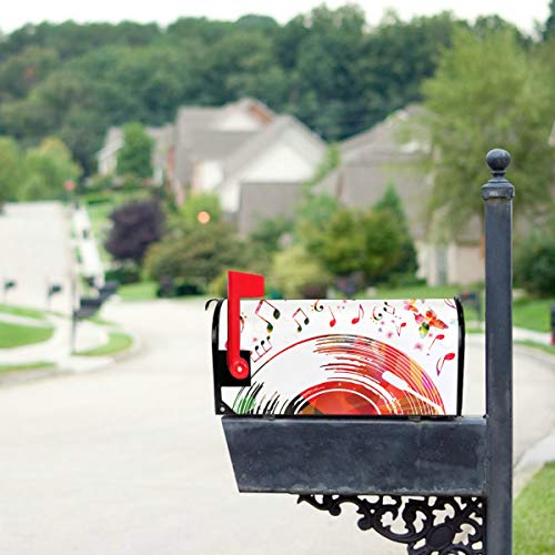 YSWPNA Color Music Posters Card Mailbox Covers Standard Size Original Magnetic Mail Cover Letter Post Box 21