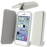 iPhone SE Case, Celicious White Folding Hard Bumper Wallet Cover Case for Apple iPhone SE / iPhone 5s