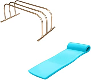 product image for TRC Recreation PVC Pool Storage Drying Rack w/ 70 Inch Foam Raft Lounger Teal