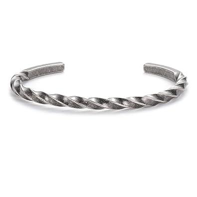 Amazon.com: Brazalete de acero de titanio con abalorios para ...