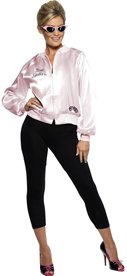 1d3ecb957213 Amazon.com: Ladies Pink 1950s 50s Grease Pink Ladies TV Book Film Sandy  Rizzo Frenchie Fancy Dress Costume Outfit Size UK4-22 (UK 4-6): Toys & Games