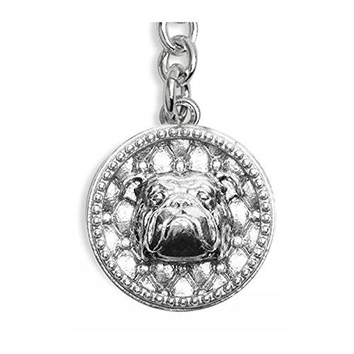 Llavero plata 925% - Perro bulldog inglés - English Bulldog ...