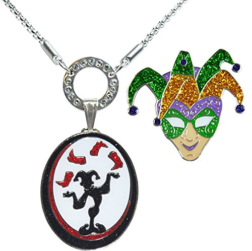 Allure Magnetic Necklace with Juggler & Jester Glitzy Ball Markers