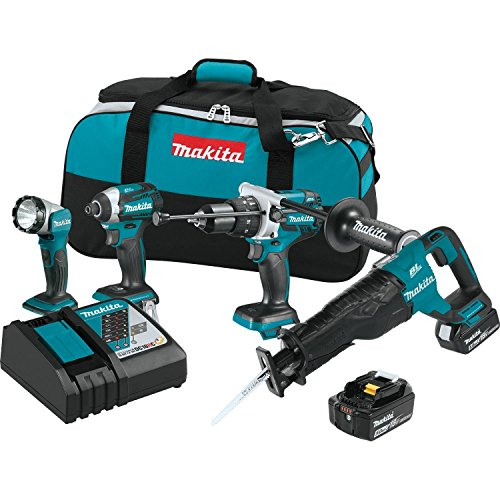 Makita XT450T 18V LXT Lithium-Ion Brushless Cordless Combo Kit (4 - Concrete Piece 4