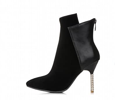 Sexy Women's Pointed-toe Fashion Chic High Stiletto Heel Dress Boots