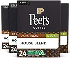 Peet's Coffee Major Dickason's Blend, Dark Roast, K-Cup Coffee Pods for Keurig Coffee Maker