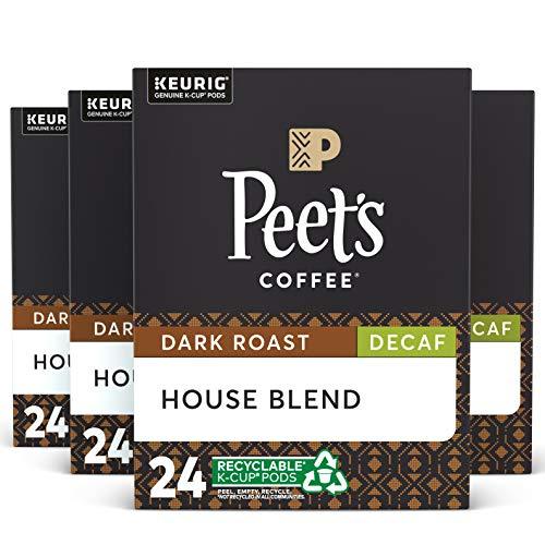 Peet's Coffee DECAF House Blend Single Cup Capsule (96 Count), 0.46oz(13.2g) each
