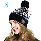 Bluetooth Beanie Hat Women Wireless Speaker Headset Headphones Earphones Mic Music Cap for Running Outdoor Sports Skiing Camping Hiking