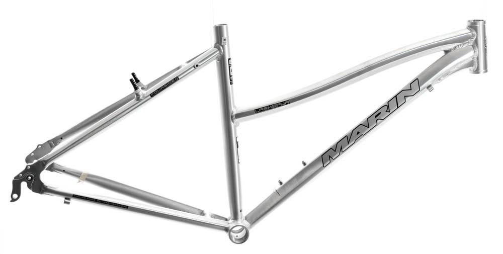 15'' MARIN LARKSPUR Women's 700C Hybrid City Bike Frame Silver Aluminum NOS NEW