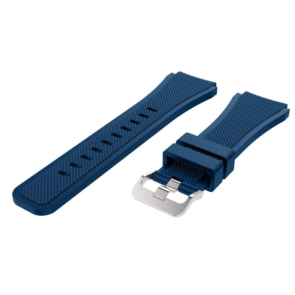 HighlifeS Soft Silicone Watch Band Replacement Band Strap for Samsung Galaxy Watch 46mm (Navy)