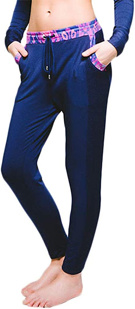 Womens Drawstring Joggers with Colorful Pockets Super Soft Sweatpants Modal Track Pant