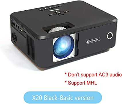 WHLDCD Proyector Mini proyector de la Marca LED Full HD 1080P Video Beamer portátil Home Theater Cinema LCD TV Smart 3D proyector de películas, Negro estándar: Amazon.es: Electrónica
