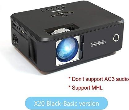 WHLDCD Proyector Mini proyector de la Marca LED Full HD 1080P Video Beamer portátil Home Theater Cinema LCD TV Smart 3D proyector de películas, Negro estándar: Amazon.es: Electrónica