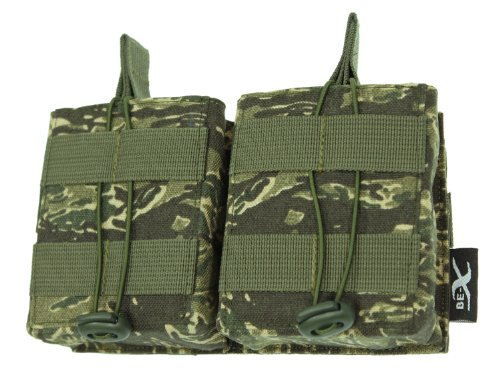 BE-X Open Mag Pouch / Magazintasche -Double- für 2x HK 417, MOLLE - rooikat
