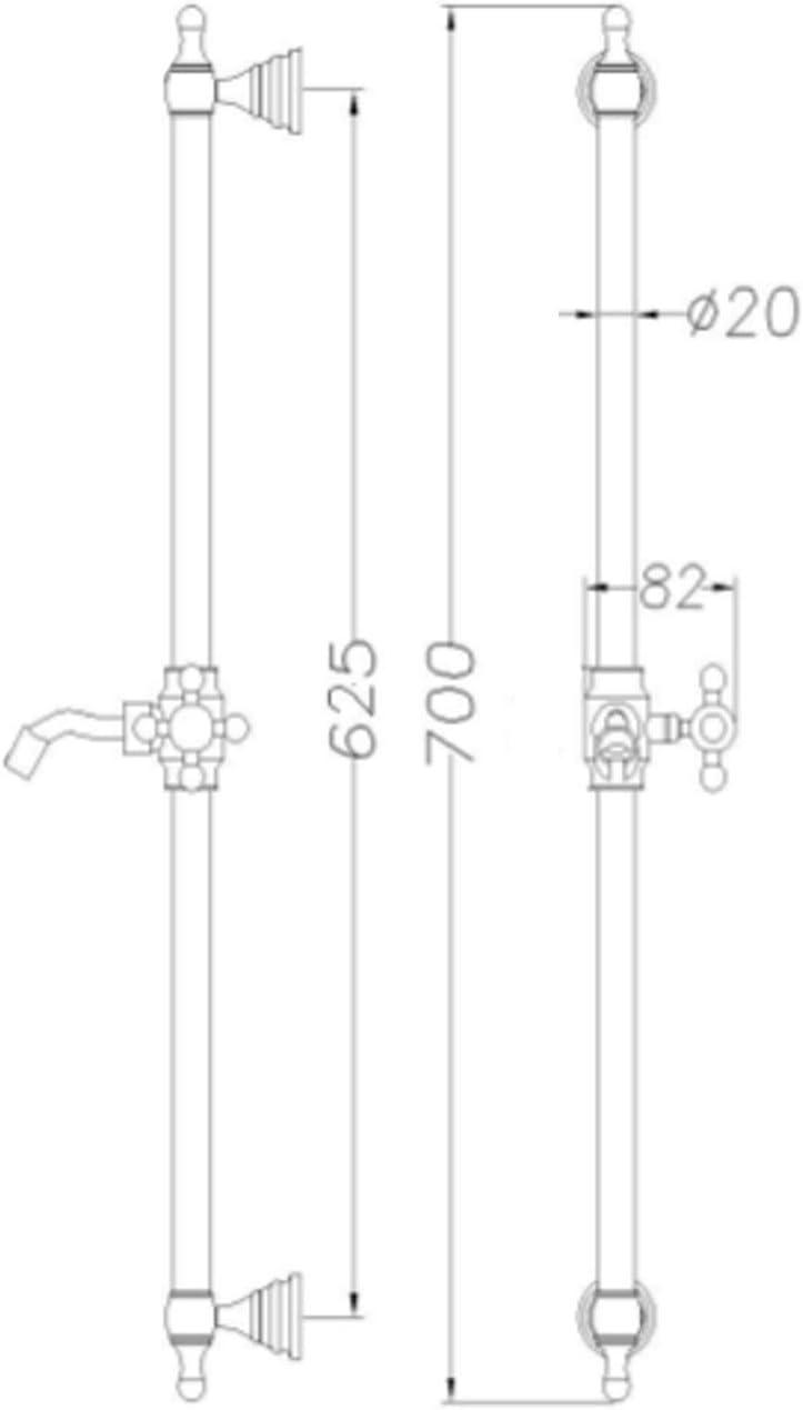 ENKI SH0208 Twin Thermostatic Shower Kit Antique Bronze White Traditional Regent