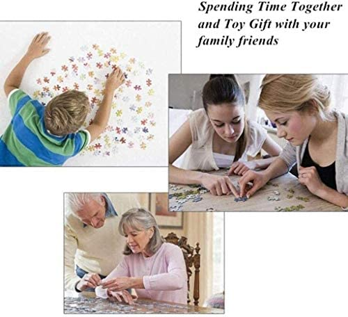 ZAQXSW Puzzle Game Wooden 300/500/1000 Pc Jigsaw Puzzle for Adults Kids Decompression Toys Wall Home Decor- Country Quiet Alley Landscape Sturdy and Easy (Size : 500)