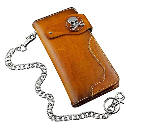 Concho Motorcycle Trucker Leather Wallet