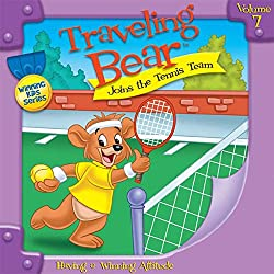 Traveling Bear Joins the Tennis Team