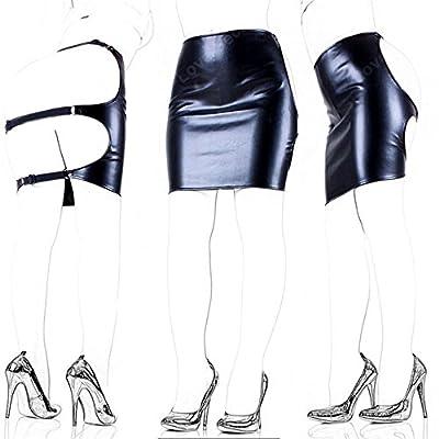 Love Secret Faux Leather Slave Spanking Skirt Open Hip Bondage Fetish Lingerie Erotic Sexy Lace Up Mini Dress