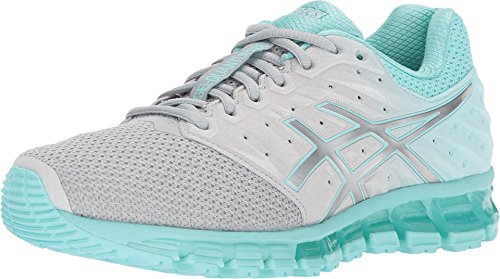 ASICS Gel-Quantum 180 2 MX Women's Running Shoe, Mid Grey/Aruba Blue/Mid Grey, 10.5 M US