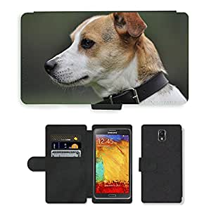 PU LEATHER case coque housse smartphone Flip bag Cover protection // M00111286 Perro de primer plano Terrier Pet Jack // Samsung Galaxy Note 3 III N9000 N9002 N9005