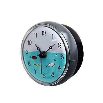 OIURV - Horloge Salle de Bains Ventouse pour la Salle de Bains ou ...