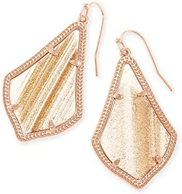 Kendra Scott Signature Alex Earrings in Rose Gold Plated and Gold Dusted Glass