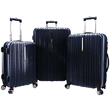 Traveler's Choice Tasmania 3 Piece Exp Spinner Luggage Set in Navy