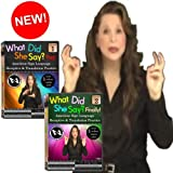 What Did She Say? American Sign Language Receptive Practice & Translation, Vol. 1-2 Set (2-DVDs) by Gilda Toby Ganezer