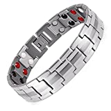 Lifestyle Stainless Steel Magnetic Therapy Bracelet Pain Relief for Arthritis and Carpal Tunnel.Magnets, far infrared, germanium, negative Ion as health care elements are embedded in each bracelet(double magnets)