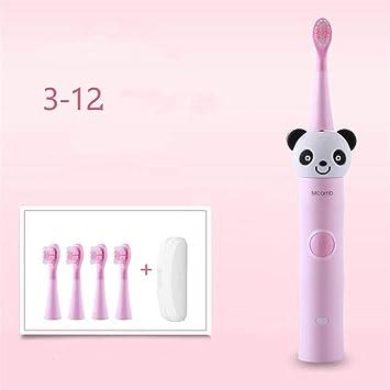 DIAOSI Diandongyashua 3-6-12 años de Edad, los niños del bebé de Silicona Cepillo de Dientes eléctrico Recargable automático de Pelo Suave Cepillo de ...